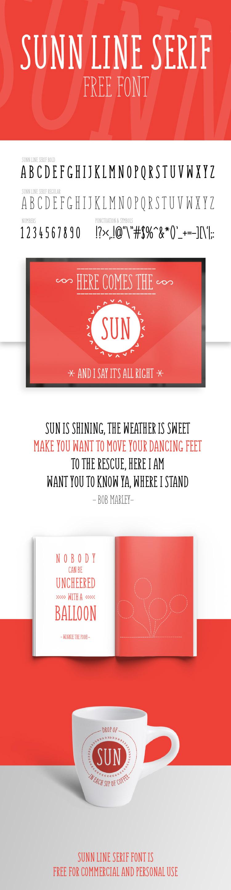 SUNN Line Serif Free Font 2