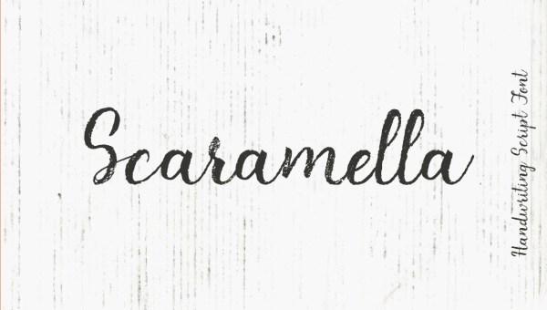 Scaramella Free Handwriting Script Font