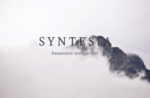 Syntesia Free Serif Font