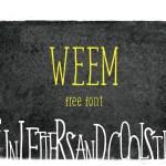 Weem Free Handwritten Font