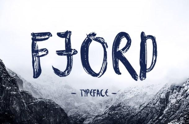 Fjord Free Brush Font