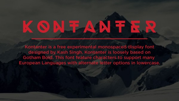 Kontanter Free Display Font