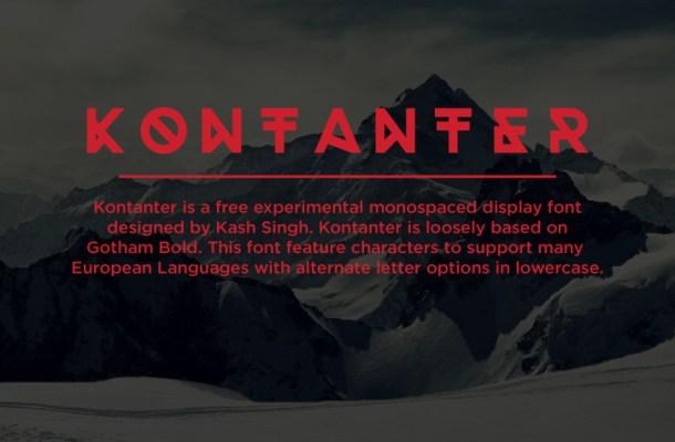 Kontanter Free Display Font