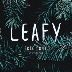 Leafy Free Handwritten Brush Font