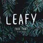 Leafy Free Handwritten Brush Font