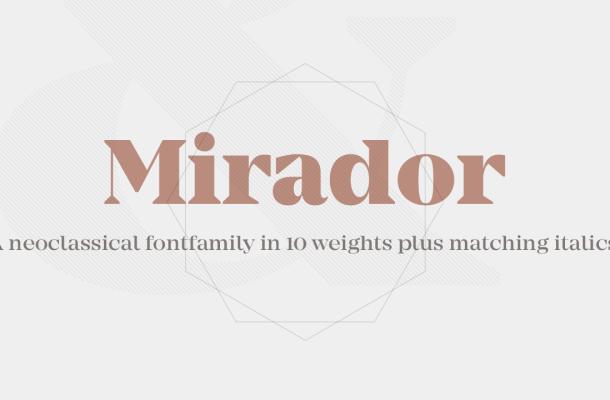 Mirador Free Font