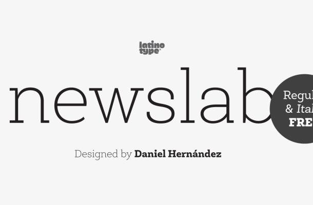 Newslab Font Free