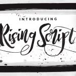 Rising Brush Free Demo Font
