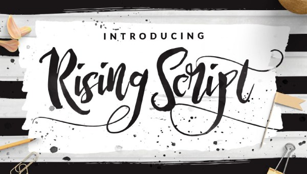Rising Brush Free Demo Font