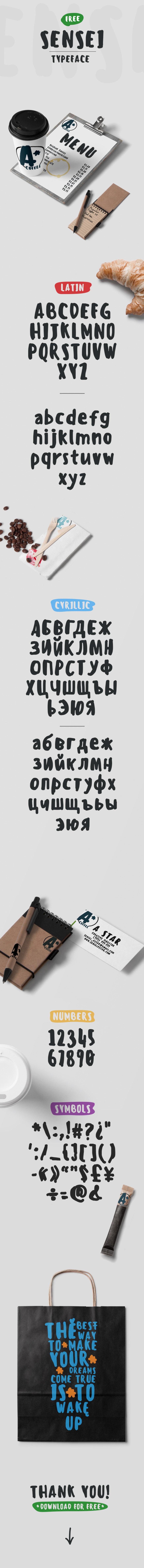 sensei typeface