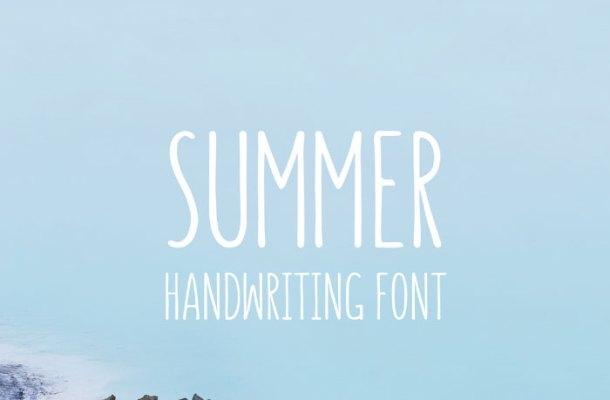 SUMMER Free Handwritten Font