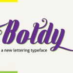Boldy Free Hand Lettering Font