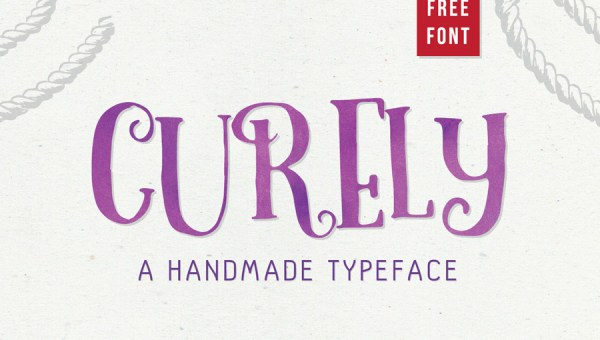 Curely Free Handmade Typeface