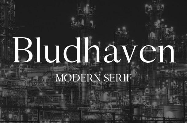 Bludhaven Modern Serif Font