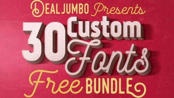 30 Best Free Fonts Deal by Dealjumbo