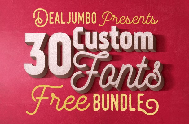 30 Best Free Fonts Deal by Dealjumbo