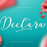 Declara Script Free Font