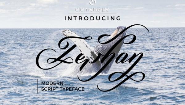 Zephan Free Modern Script Font