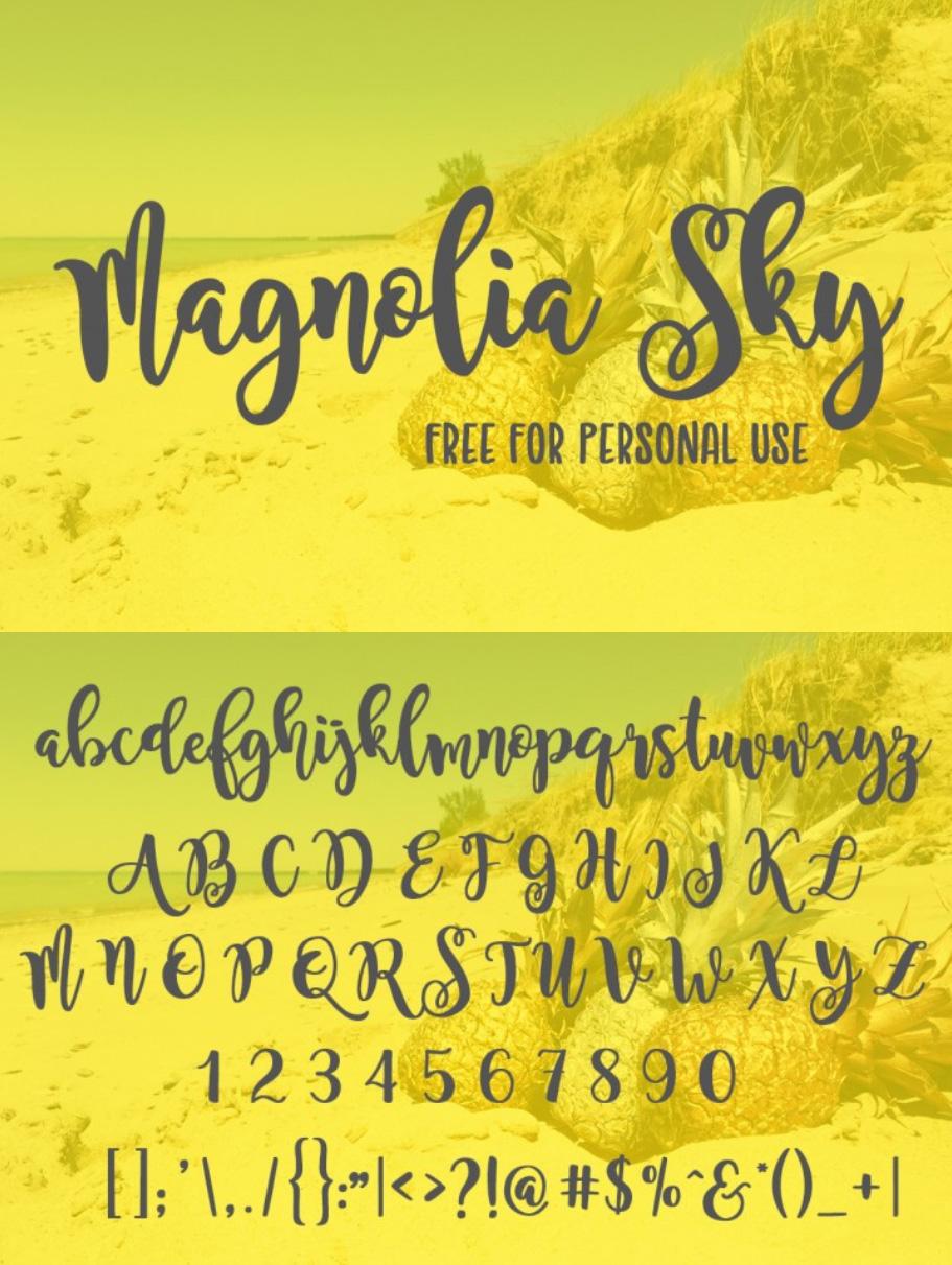 FREE Magnolia Sky Font