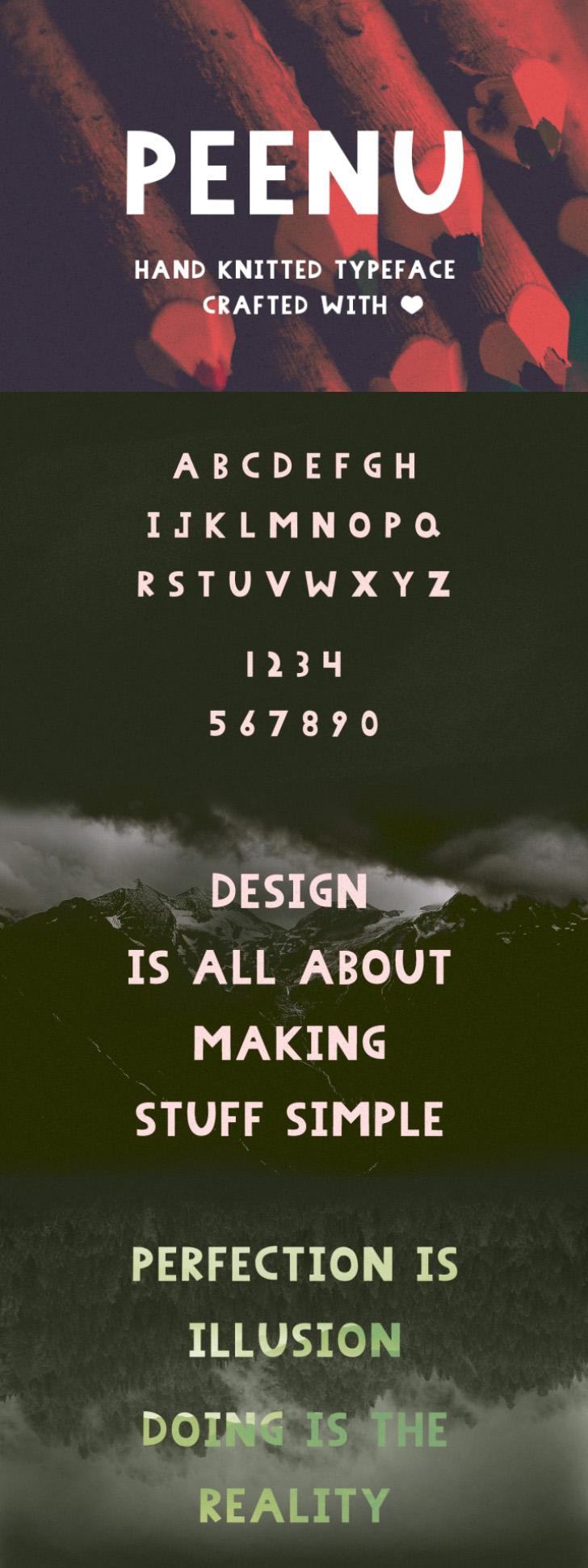 FREE Peenu Font by TheHungryJPEG