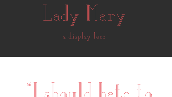 Lady Mary Free Display Font