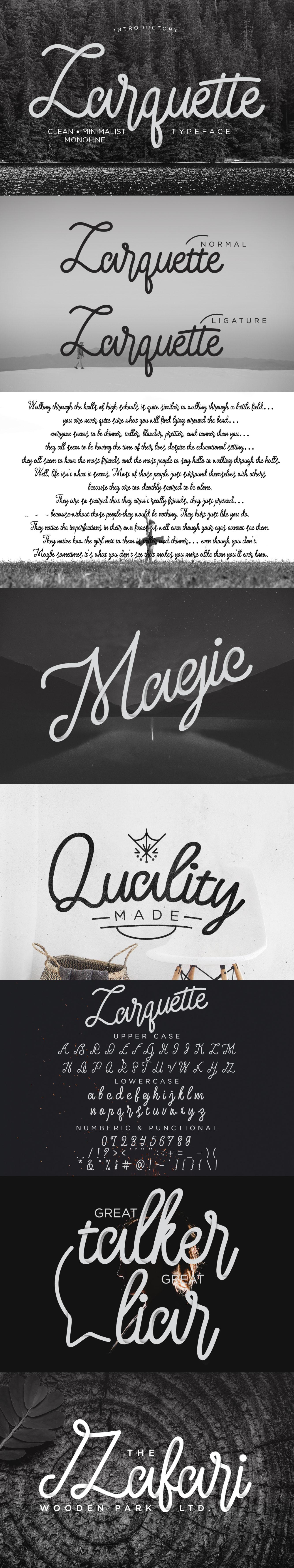 Larquette Typeface