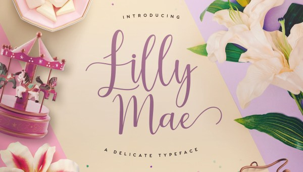 Lilly Mae Free Calligraphy Font