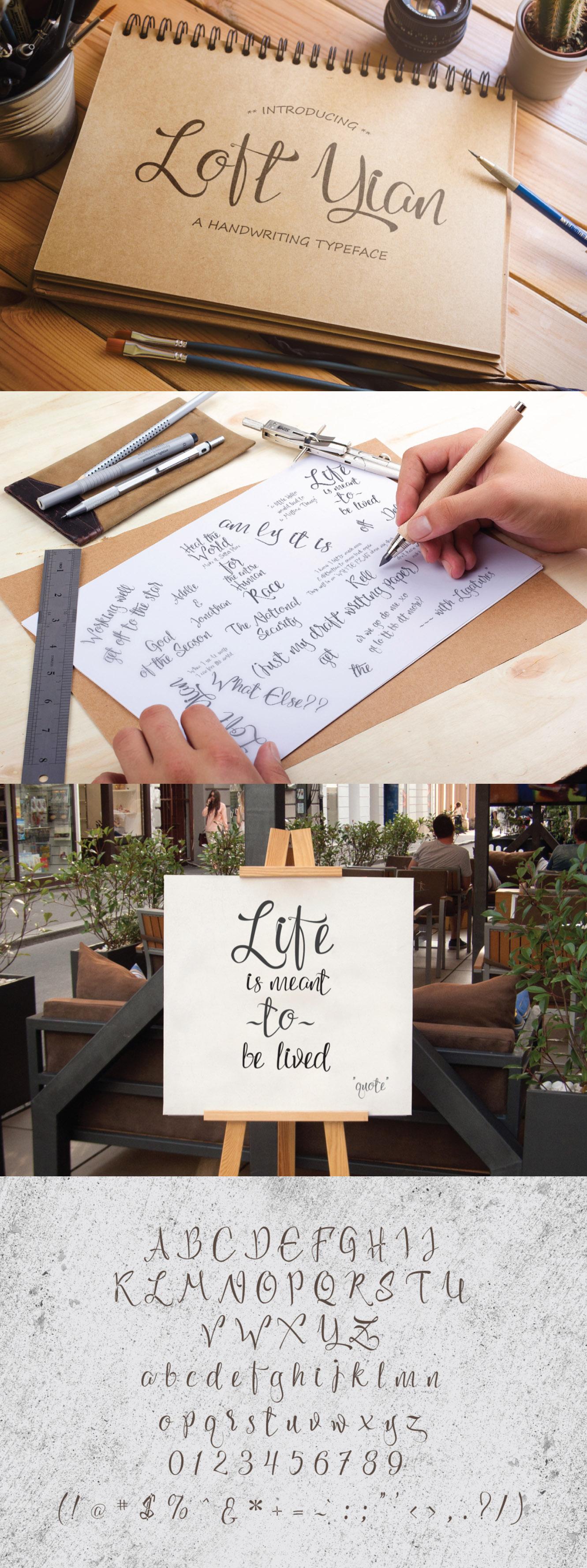 Loft Yian Script Typeface
