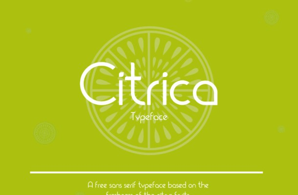Citrica Display Font Free