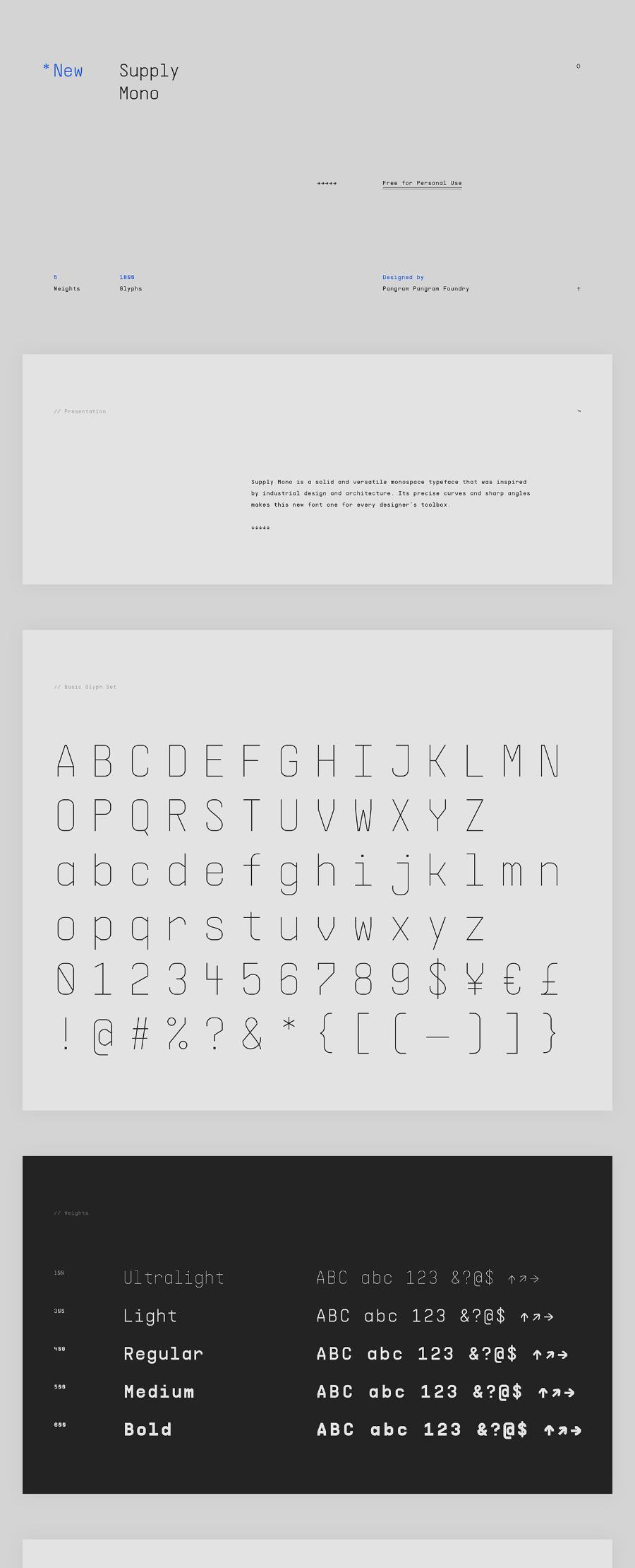 Supply Mono Font Family - Free Fonts