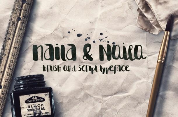 Naila Free Script Typeface