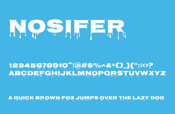 Nosifer Free Font