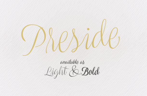 Preside Free Calligraphy Font