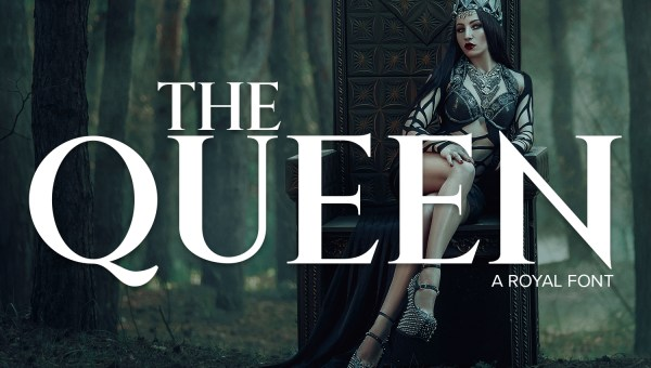 The Queen Free Royal Font