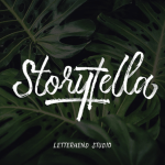 Storytella Brush Free Font