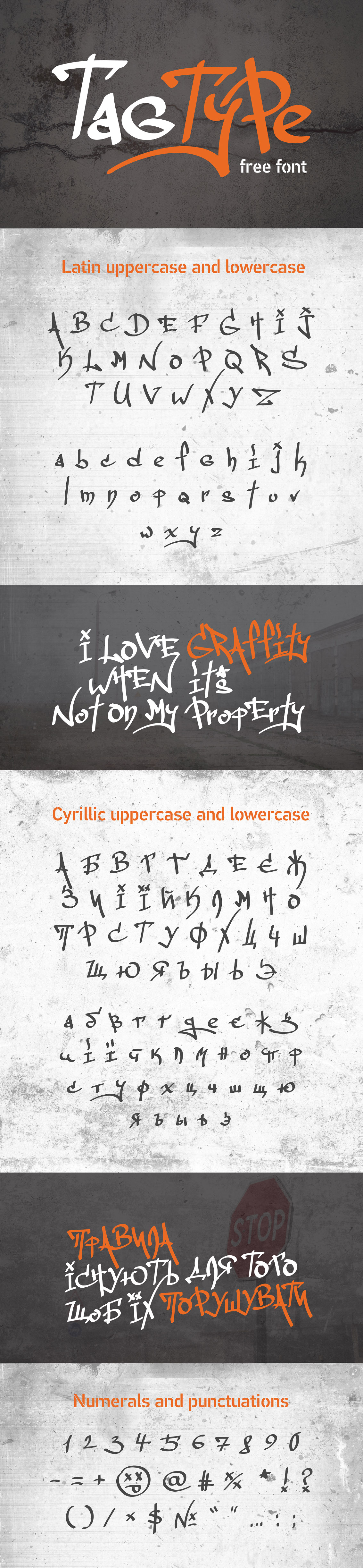 Tag typeface