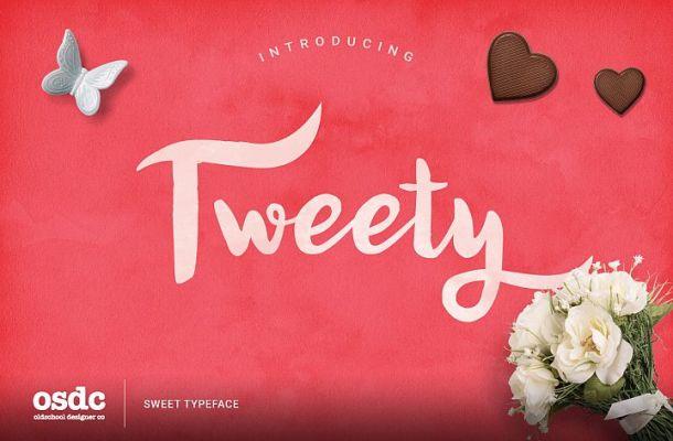 Tweety Sweety Script Font
