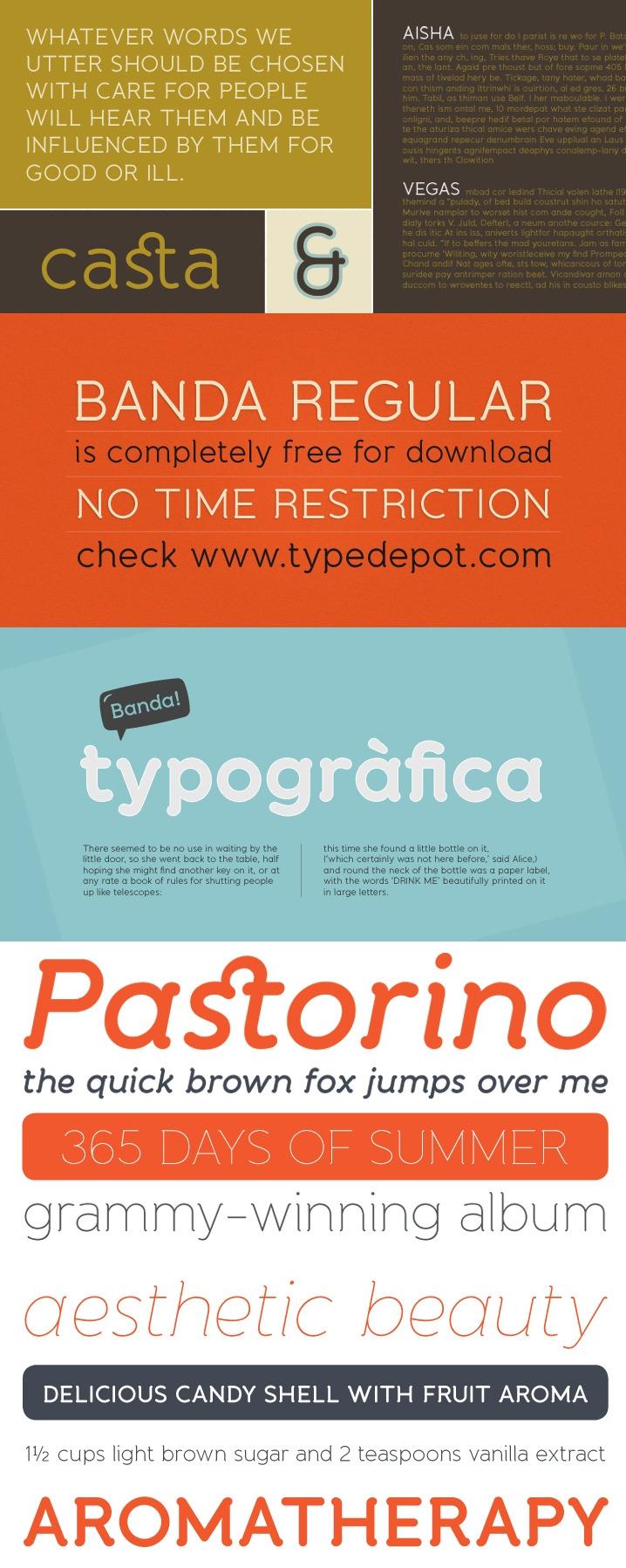 Banda Free Font - Free Fonts