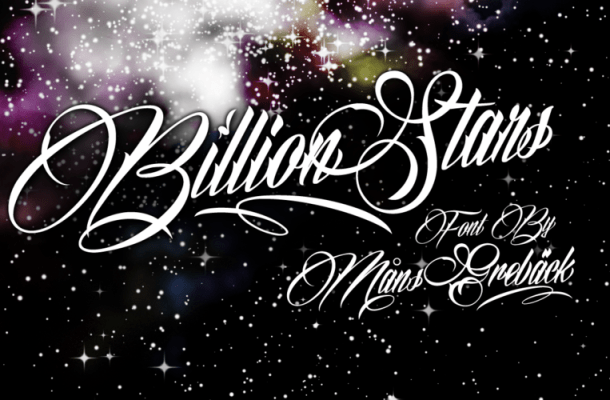 Billion Stars Free Font