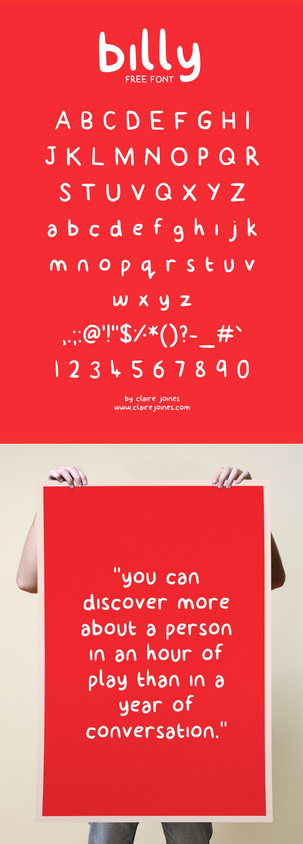 billy free font