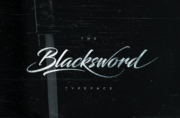 Blacksword Free Calligraphy Font