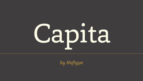 Capita Free Serif Font