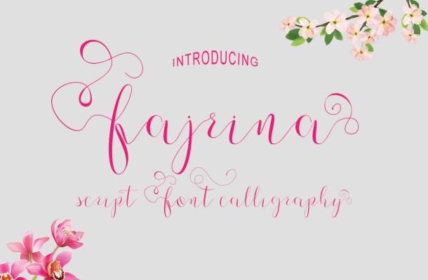 Fajrina Free Script Calligraphy Font