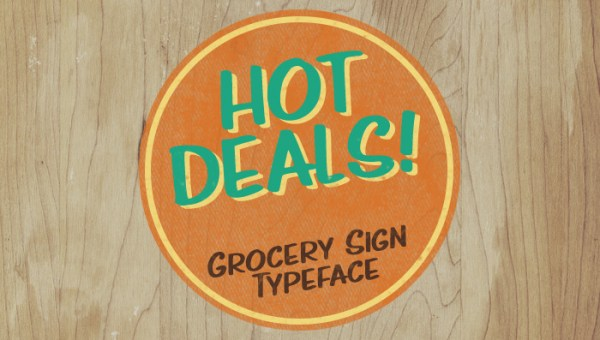 Hot Deals Free Sign Typeface