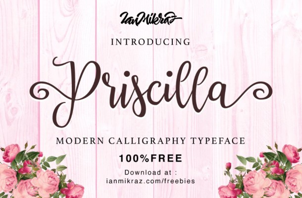 Priscilla Free Script Font
