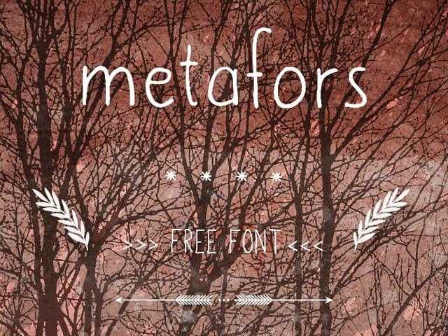metafors-free-font