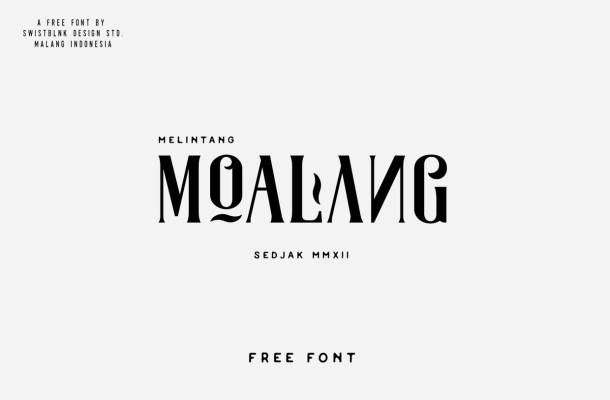 Moalang Free Decorative Font