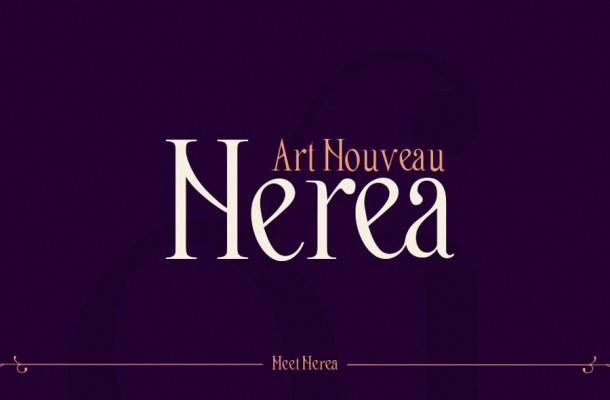Nerea, Art Nouveau Free Font
