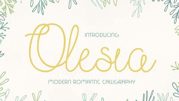 Olesia Free Script Font