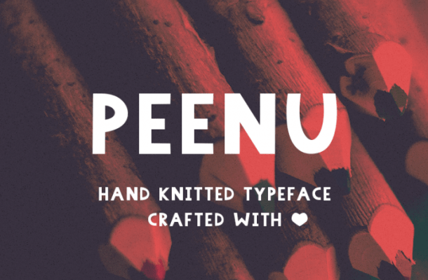Peenu Free Hand Knitted Font